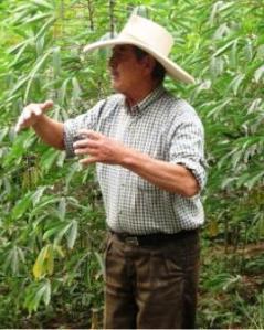 Ulises Moreno explicando lo importante que son sus plantas.